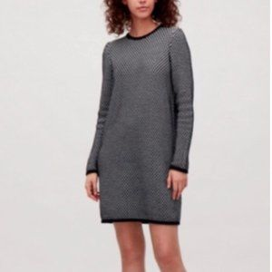 COS Raised Texture Knit Sweater Dress S